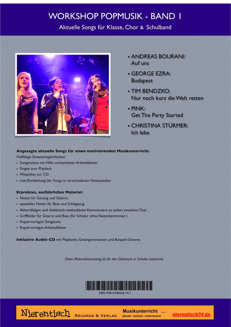 NEU: Workshop-Popmusik, Bd. 1