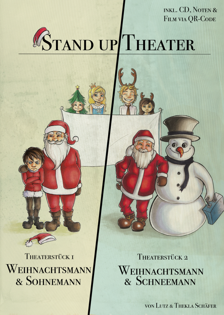 Weihnachtsmann & Schneemann / Weihnachtsmann & Sohnemann